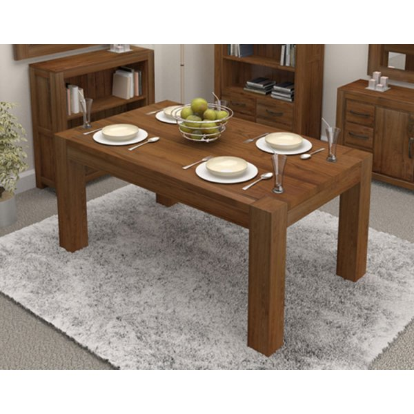 Baumhaus Mayan Walnut Dining Table Seats 8 People