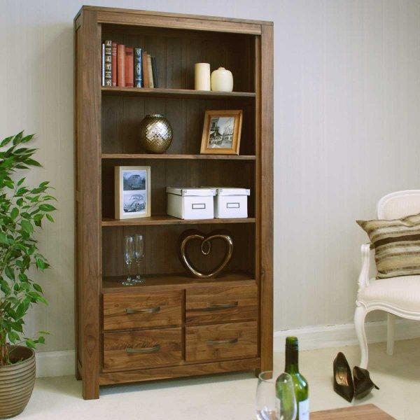 Baumhaus CWC01A Mayan Walnut Bookcase