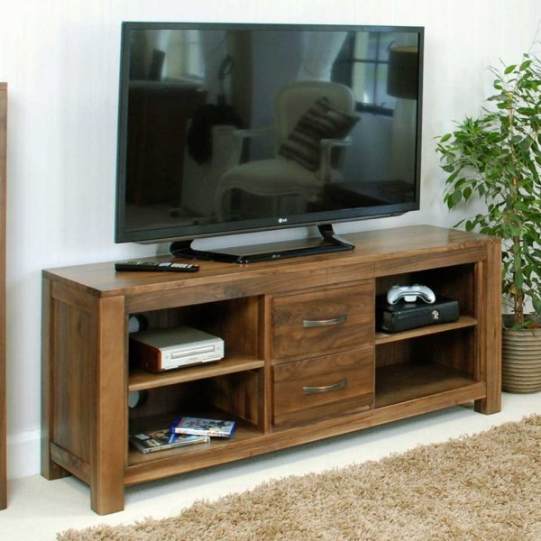 Baumhaus CWC09B Mayan Walnut TV Cabinet