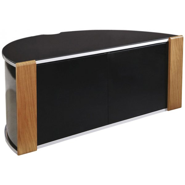 Sirius 850 Oak and Black Corner TV Cabinet
