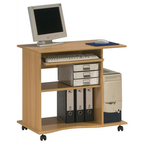 Maja 4024 5531 Madrid Beech Computer Trolley Desk with Castors