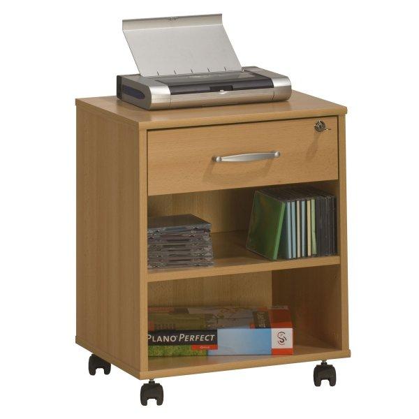 Maja 4025 5531 Madrid Beech Home Office Computer Pedestal with Castors
