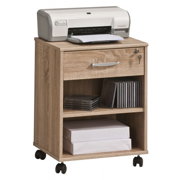 Maja 4025 5525 Madrid Oak Home Office Pedestal with Castors