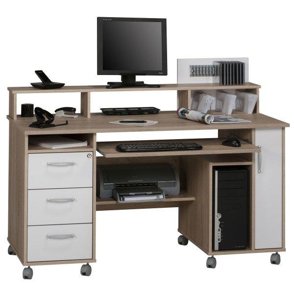 Maja Exeter Oak & White Computer Desk