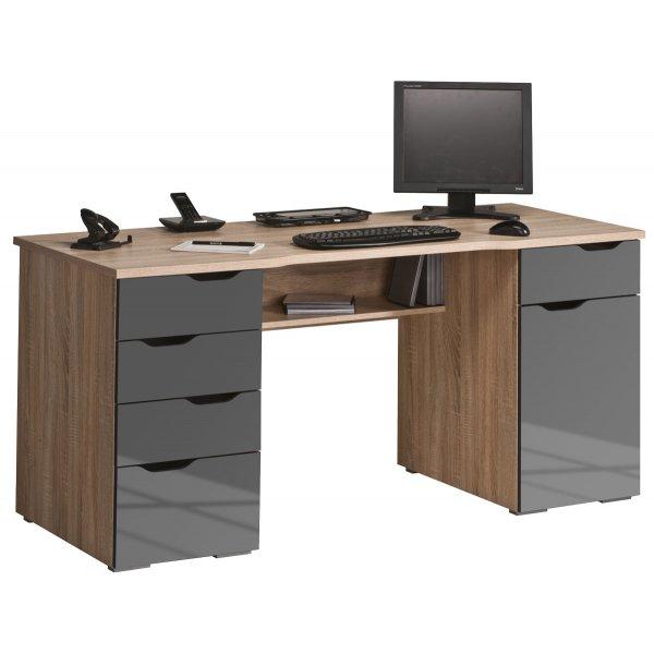 Maja Marlborough Oak & Grey Computer Desk