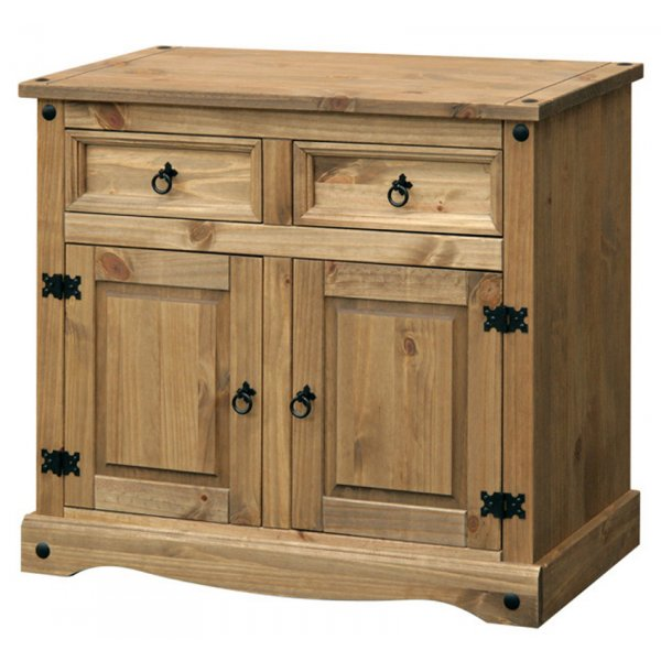 Core Products CR915 Classic Corona 2 Drawer 2 Door Sideboard - Rustic Pine