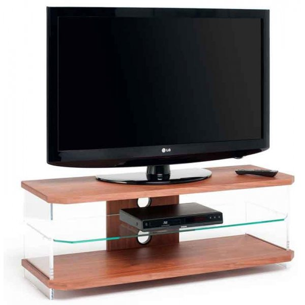 AVF AI110W Air Walnut, Acrylic & Glass TV Unit For TVs up to 55""