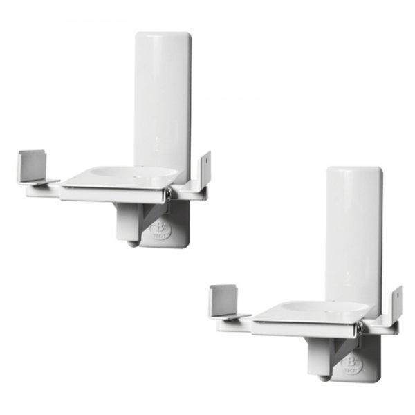 B-Tech Pair of White Side-Clamping Speaker Mounts
