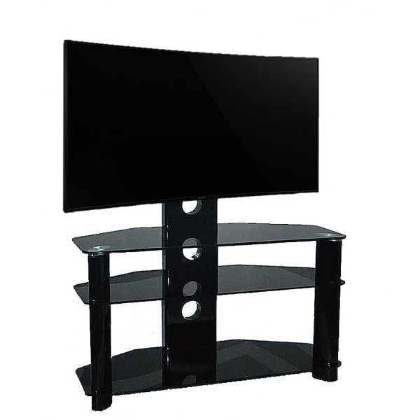 """Piano Black Universal TV Stand With Bracket for TVs up To 50\"""""""