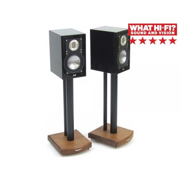 MOSECO 5 Black & Dark Bamboo Speaker Stands