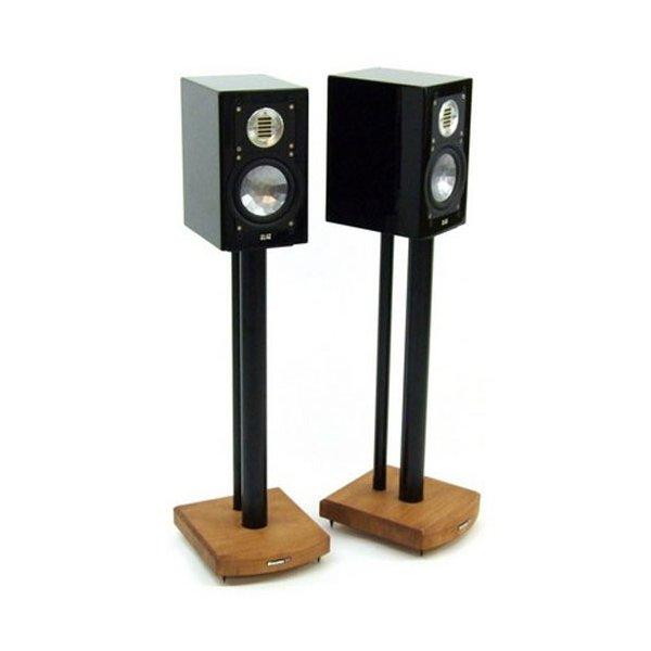 MOSECO 6 Black & Medium-Bamboo Speaker Stands