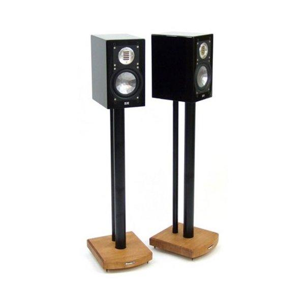 MOSECO 7 Black & Medium Bamboo Speaker Stands