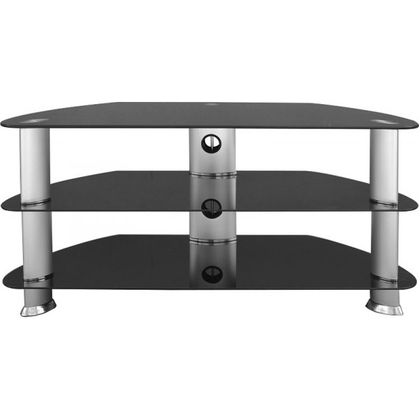 "Universal Black TV Stand For up to 42"" TVs"