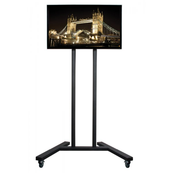 """B-Tech Trolley Stand with Castors for up to 55\"""" TVs"""