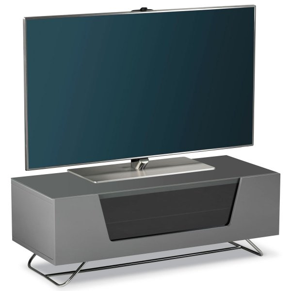 """Alphason Chromium 1000 Grey TV Stand for up to 50\"""" TVs"""