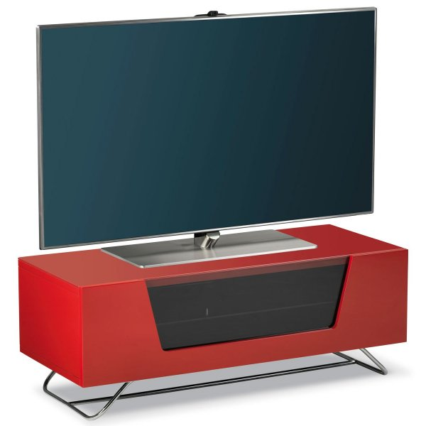"""Alphason Chromium 1000 Red TV Stand for up to 50\"""" TVs"""