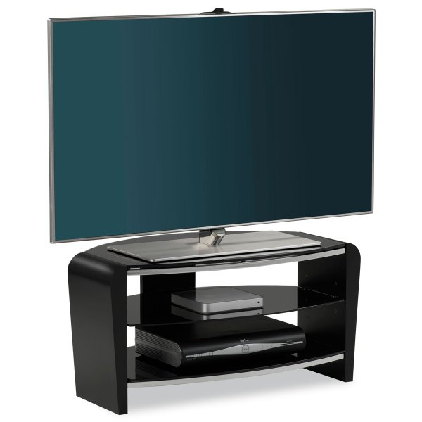 """Alphason Francium 800 Black TV Stand for up to 37\"""" TVs"""