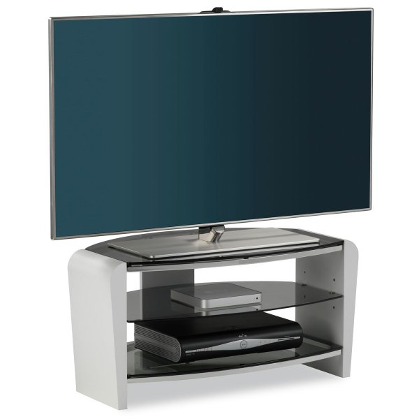 """Alphason Francium 800 White TV Stand for up to 37\"""" TVs"""