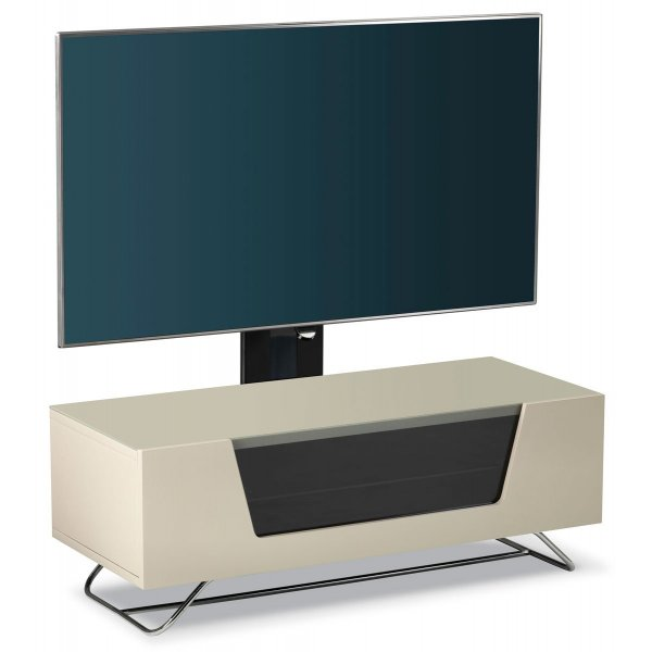 Alphason Chromium 1000 Ivory Cantilever TV Stand