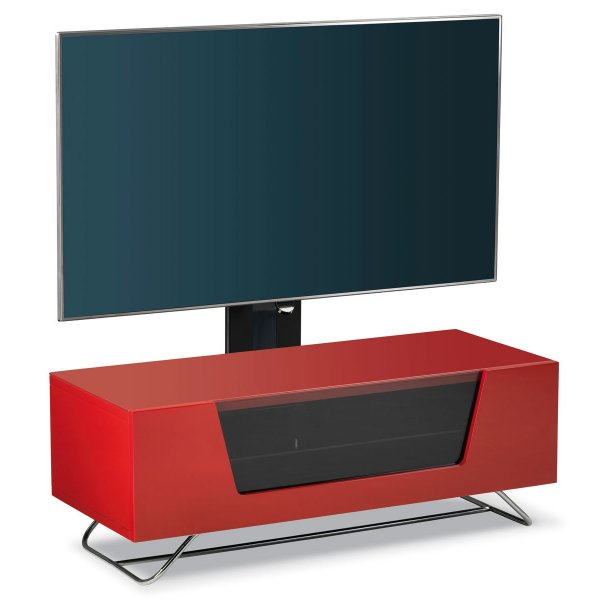 Alphason Chromium Red Cantilever TV Stand