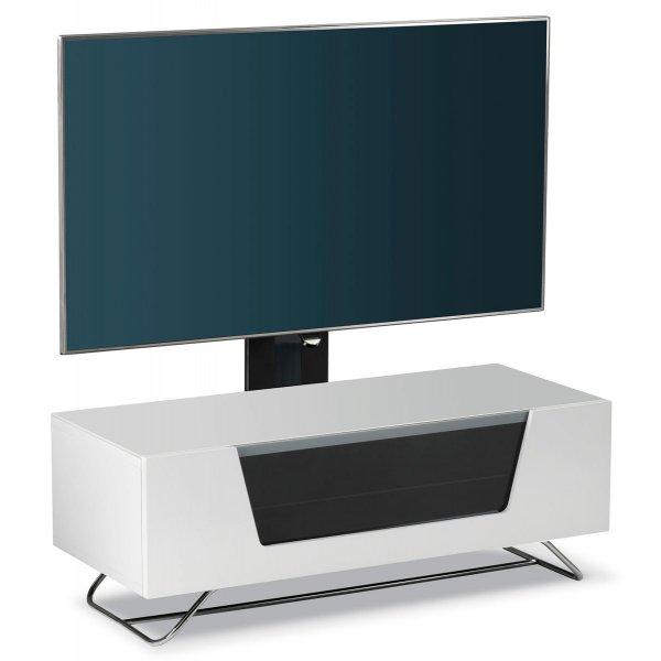Alphason Chromium White 1000 Cantilever TV Stand