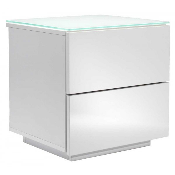 Oslo High Gloss White Drawer Unit