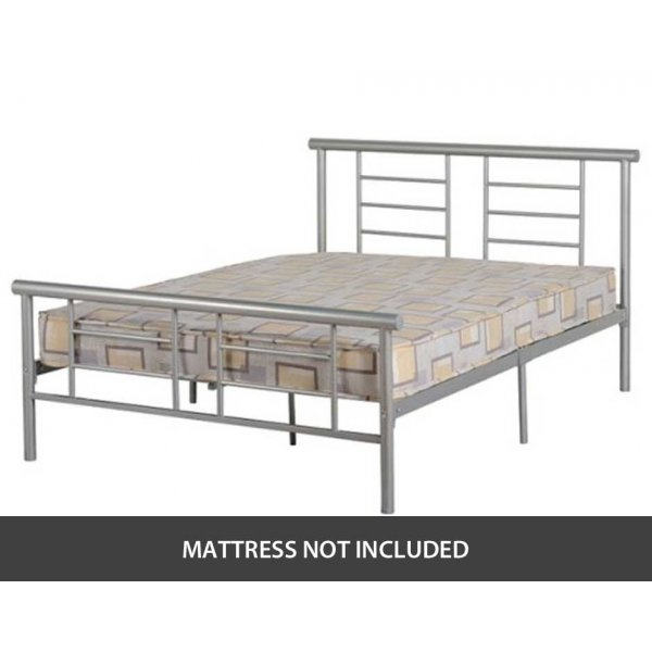 """ValuFurniture Lynx 4\'6\"""" Double Bed with High End"""