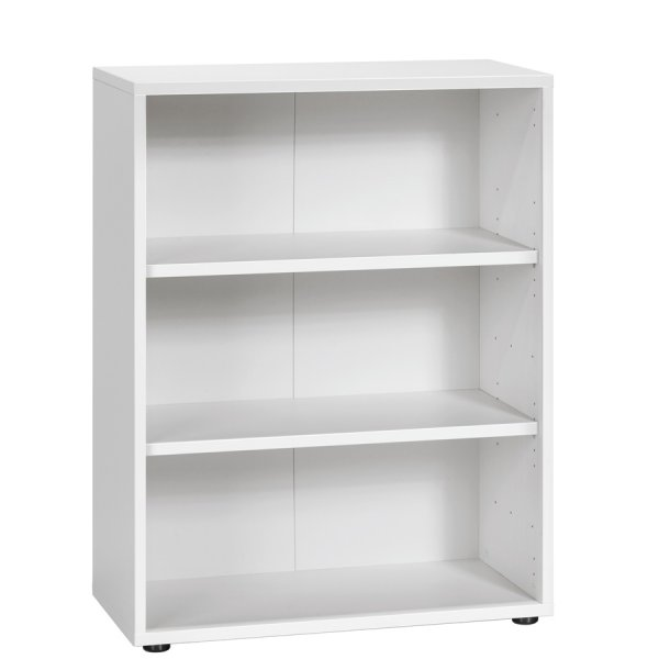 Maja White Low Bookcase