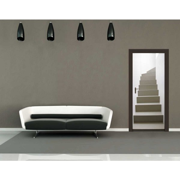 1Wall Turning Staircase Door Mural