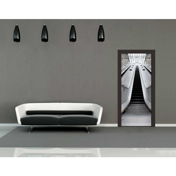 1Wall Escalator Door Mural