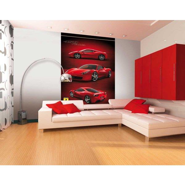 1Wall 458 Italia Red Ferrari Wall Mural