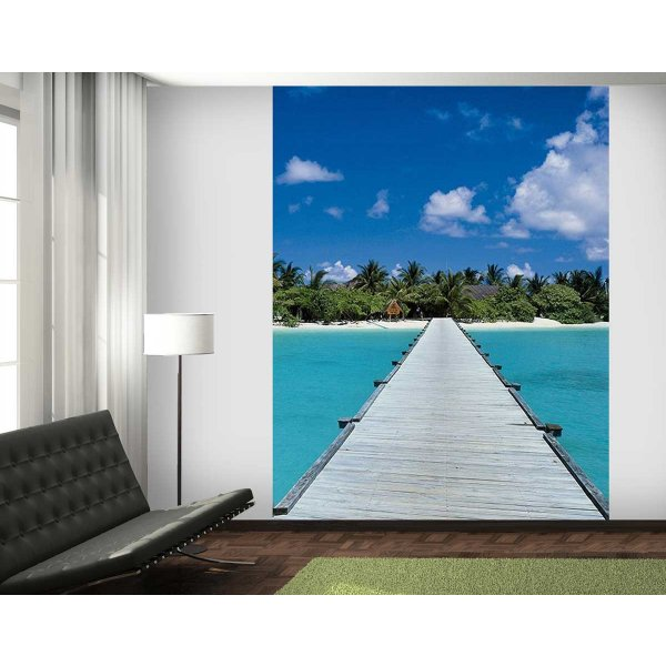 1Wall Maldives Jetty Wall Mural