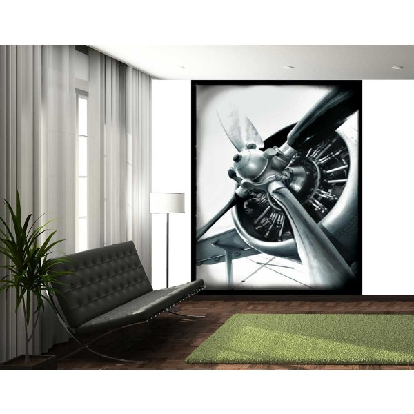 1Wall Vintage Style Aviator Propellor Wall Mural