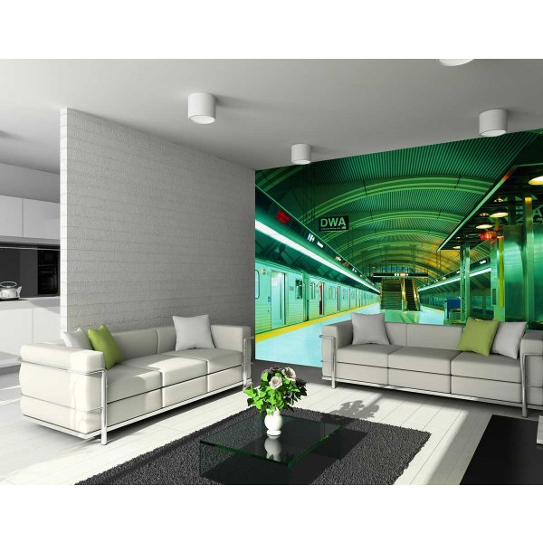 1Wall Giant Underground Subway Wall Mural