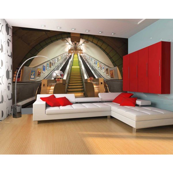 1Wall Giant London Underground Escalator Wall Mural
