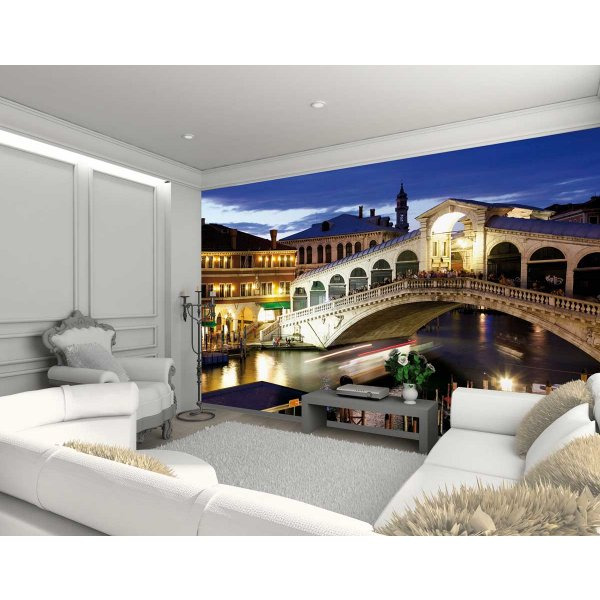 1Wall Giant Venice Rialto Bridge Wall Mural