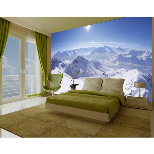 1Wall Giant Snowy Alps Wall Mural