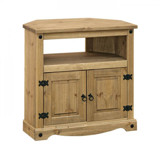 """Core Products CR911 Classic Corona Corner TV Unit for up to 42\"""" TVs - Rustic Pine"""