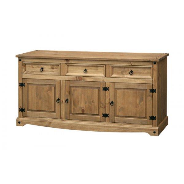 Core Products CR917 Classic Corona 2 Drawer 2 Door Sideboard - Rustic Pine