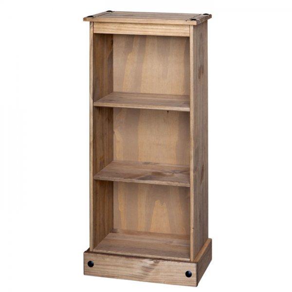 Core Products CR948 Classic Corona Low Narrow 2 Shelf Bookcase - Rustic Pine