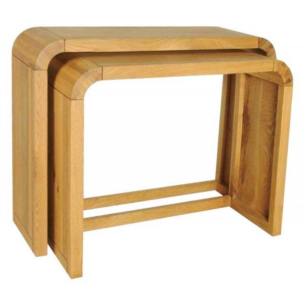 Ultimum Durham Oak UD50 Resized Pair of Console Tables