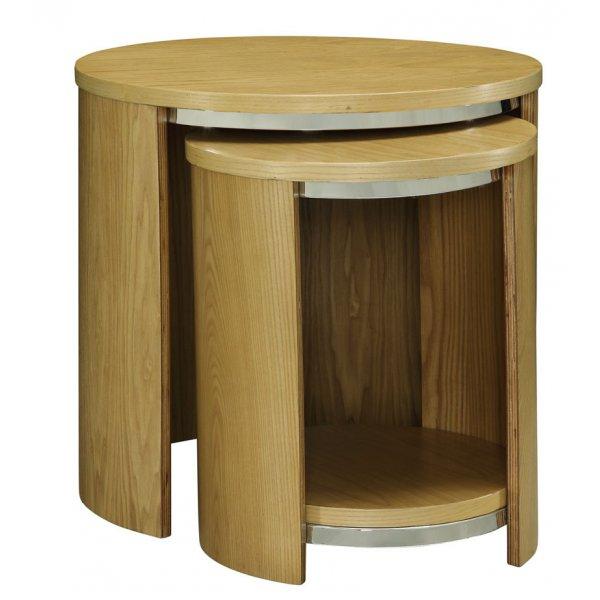 Jual JF306 Oak Nest of Tables