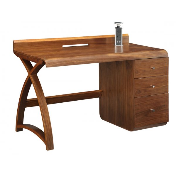 Jual Santiago 3 Drawer Walnut Pedestal Desk