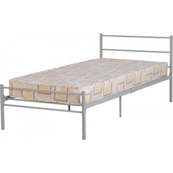 "ValuFurniture Devon 3\'0\"" Single Bed in Silver"