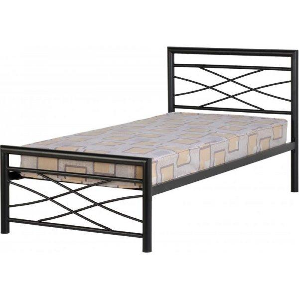 ValuFurniture Kelly 3\' Black Single Bed