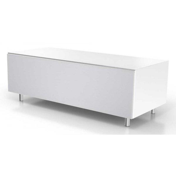 Just Racks JRL1101S White TV Stand