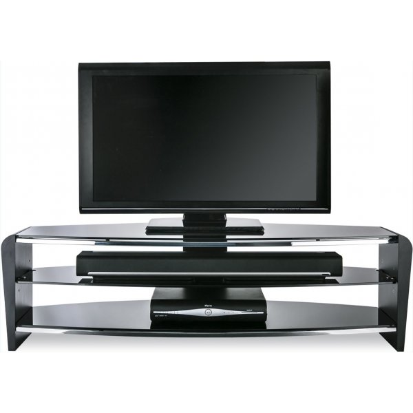 """Alphason Francium 1400 Black TV Stand for up to 65\"""" TVs"""