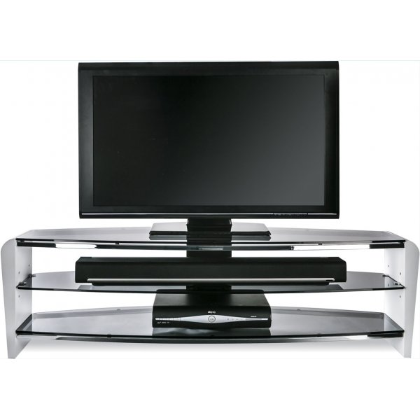 """Alphason Francium 1400 White TV Stand for up to 65\"""" TVs"""