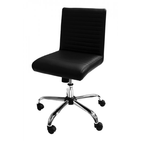 Alphason Lane Black Leather Operator Chair