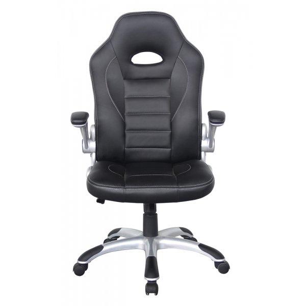 Alphason Talladega Black Leather Executive Chair
